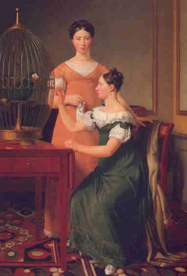 Christoffer Wilhelm Eckersberg   Bella and Hanna,