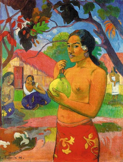 Gauguin  Paul Woman Holding a Fruit