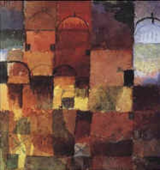 Klee Paul  Cupole bianche e rosse