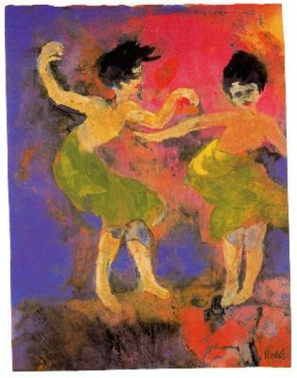 Nolde Emile Dancing Women (with Green Skirts)