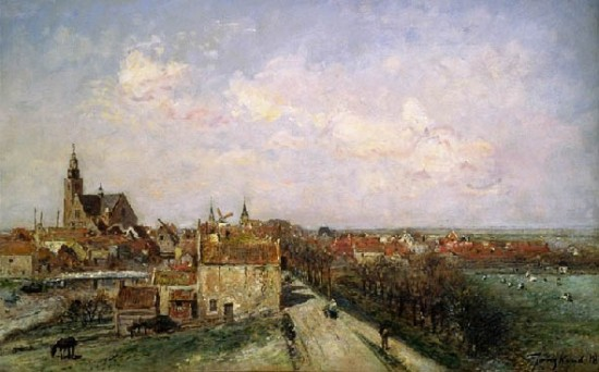 Jongkind Berthold Title : View of Maassluis, the Netherlands