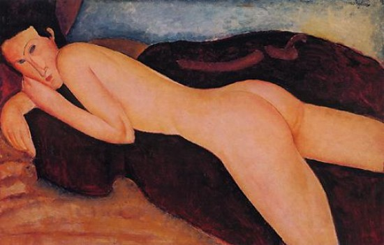 Modigliani Amedeo Reclining Nude from the Back