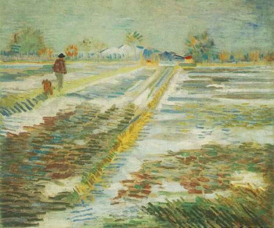 Van Gogh Landscape with snow