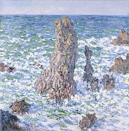 MONET Claude  Rocce a Belle-Ile