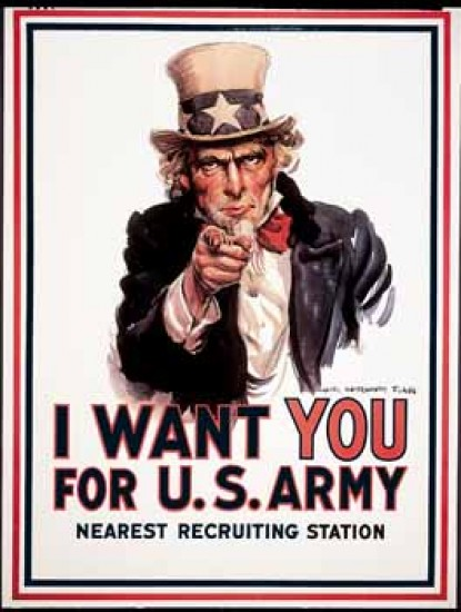 Montgomery Flagg James I Want You for U.S. Army