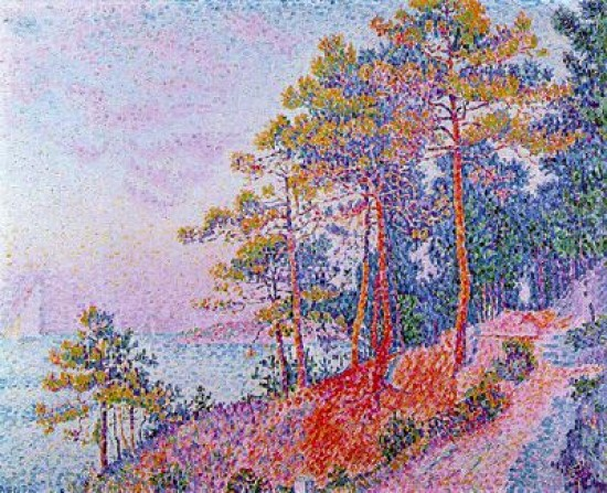 Signac Paul  Above Saint-Tropez, the Customs House Pathway