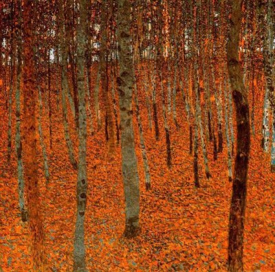 Klimt Gustav Forest beach