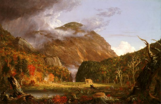 Cole Thomas Landscape of a valley in the White Mountains of New Hampshire...