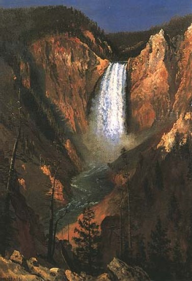 Bierstadt Albert Lower Yellowstone Falls,