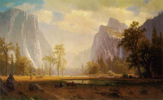 Bierstadt Looking Up the Yosemite Valley