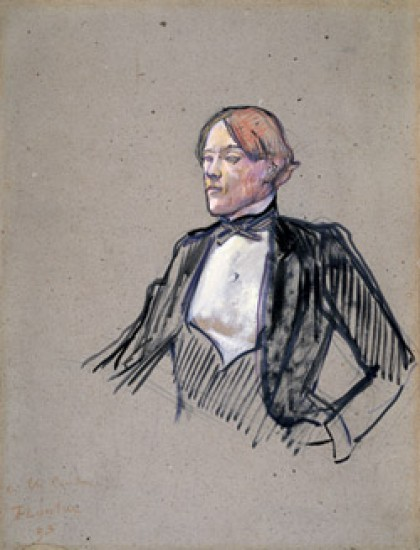 Toulouse-Lautrec Henri Charles Conder: Study for Fashionable People at Les Ambassadeurs