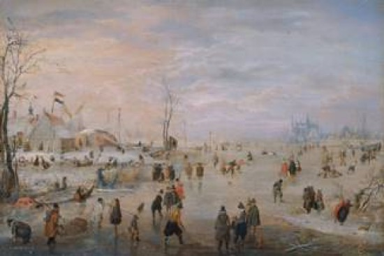 Avercamp Hendrick Winter landscape on the River Ijsel near Kampen