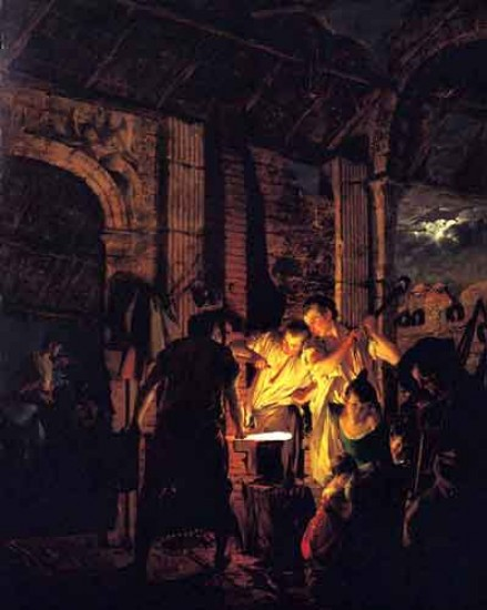 Joseph Wright of Derby La bottega del fabbro