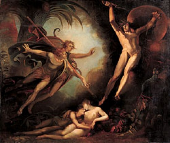 Fuseli Henry Satan Starting from the Touch of Ithuriel's Spear