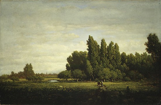 Théodore Rousseau A Meadow Bordered by Trees,