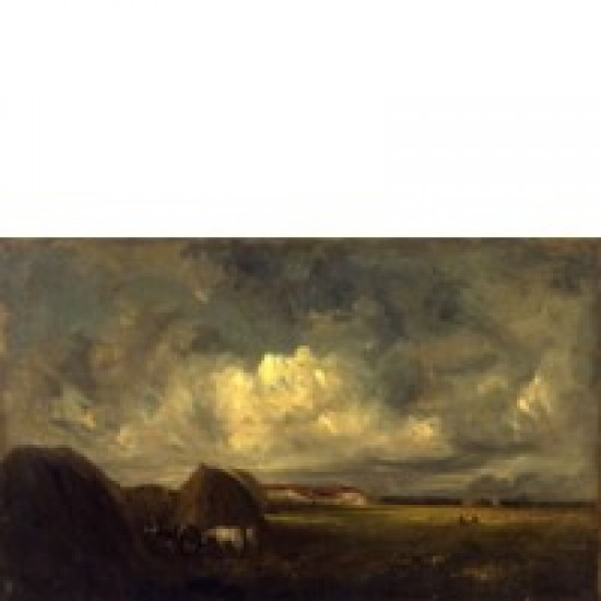 Jules Dupre, Landscape (Haying Time),