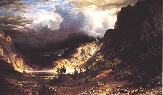 Bierstadt Albert A Storm in the Rocky Mountains, Mt. Rosalie,